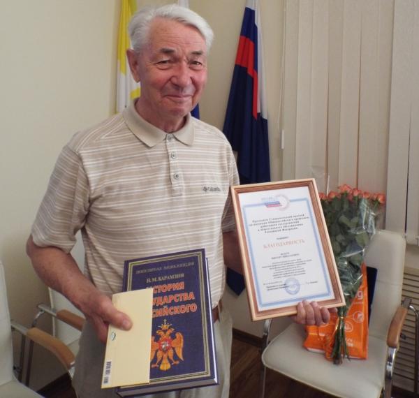 В СИЗО-1 УИС Ставрополья поздравили с юбилеем самого старшего сотрудника учреждения