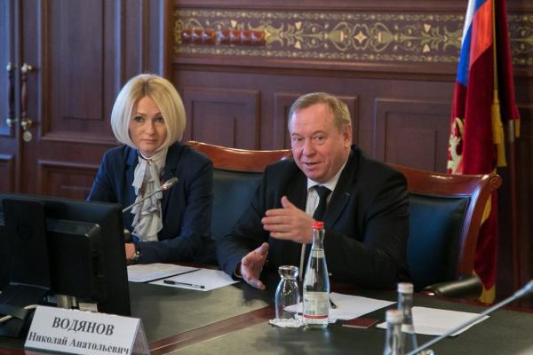 Встреча Председателя Профсоюза Н.А. Водянова с руководителем Росреестра В.В. Абрамченко