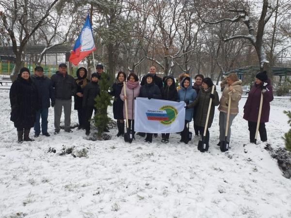 В городском парке Георгиевска высадили профсоюзную поляну